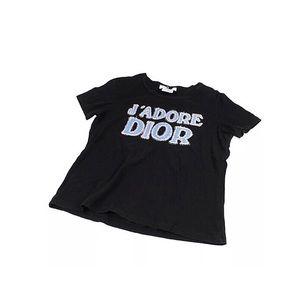 Dior J'Adore Black Logo Tee